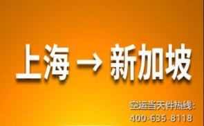 上海到新加坡空运